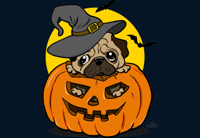 Halloween pug dog  Artwork