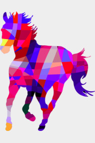 Geometric Cool Horse Colorful Design