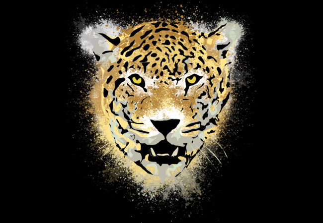 Tiger with Paint Splatters Distressed Design  Artwork