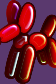 Balloon Animal - Dog (red)