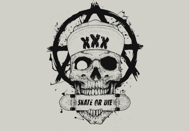 Skate or Die!  Artwork