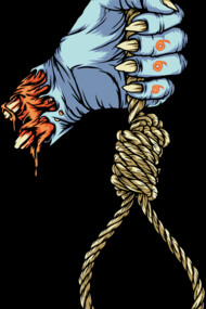 The hand with the rope