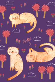 Orange Cat Pattern