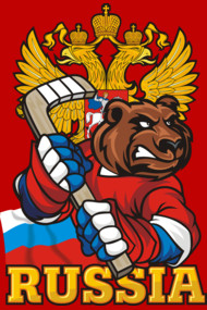 Russian Hockey. Bear.