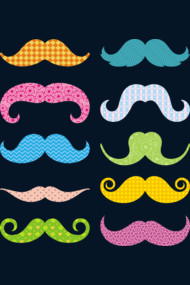Color mustaches