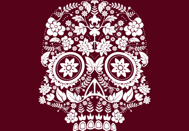 Day of the Dead Skull No17  Artwork
