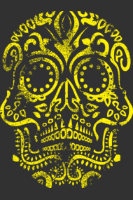 Yellow Day of the Dead Skull