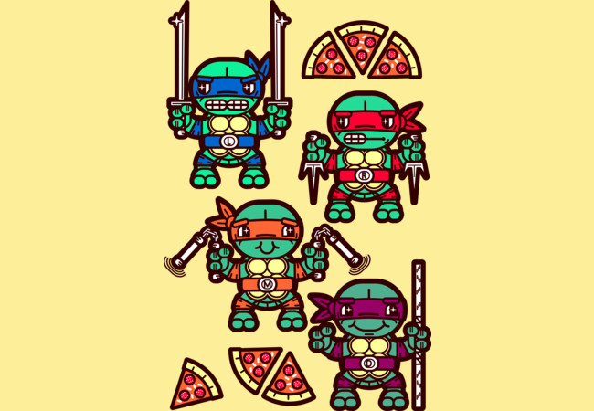 Teenage Mutant Ninja Turtles Pizza Party  Artwork