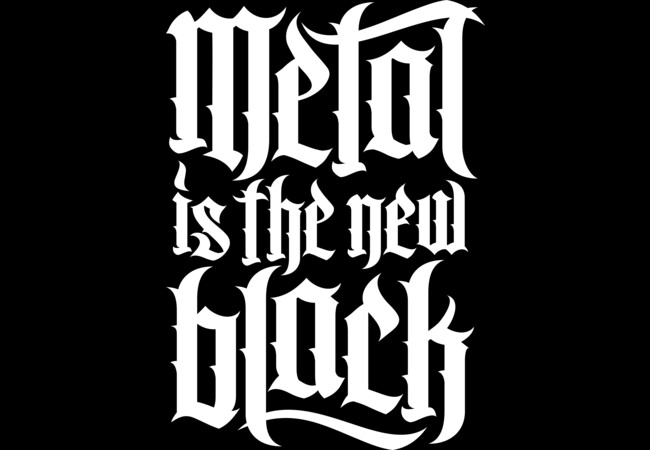 Metal is the new black No.2 (white)  Artwork
