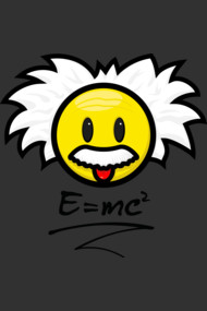 Smiley Einstein - E = mc²