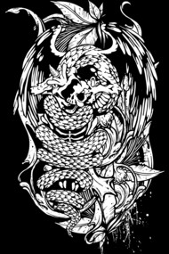 Snake Dragon (white)