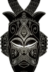 Horned Tribal Mask
