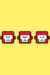 THREE MONKEYS : FACIAL EXPRESSION