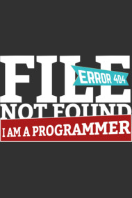 Programmer : File not found 404 - I am a programmer