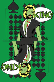 Zombie Pop Art Pin Up Spade King