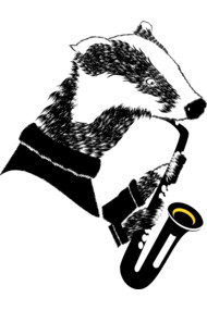 Badger Playing A Saxophone