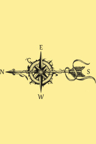 Compass with arrow