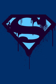 Superman Blue Splatter Logo