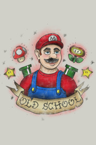 Old School Mario Tattoo