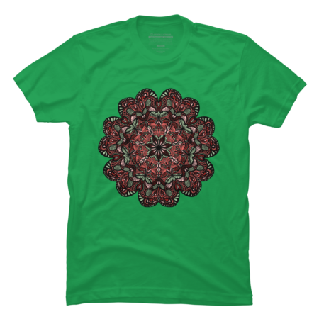Flower Mandala |Orange| Green| Pink