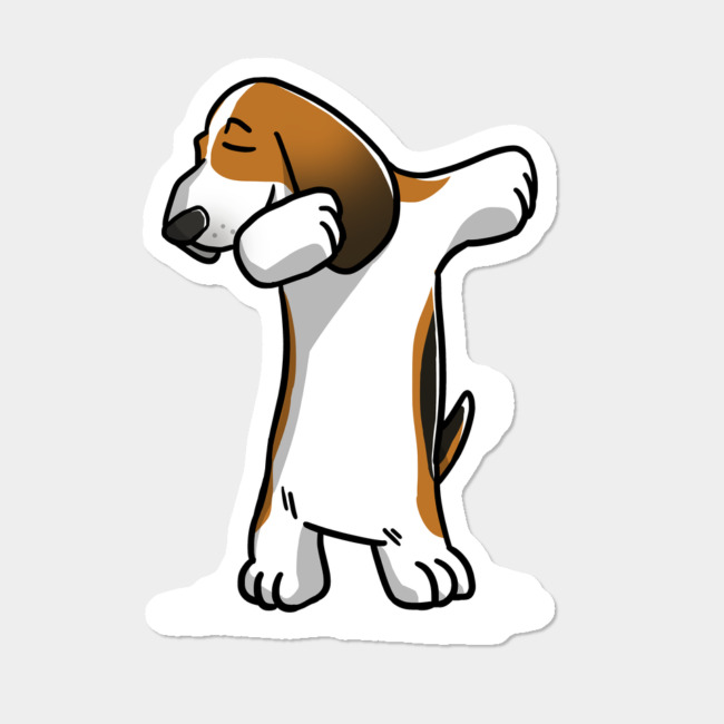 1331e1ee Basset Hound Dabbing Dog Dab Dance Move Sticker By BarkTrends ...