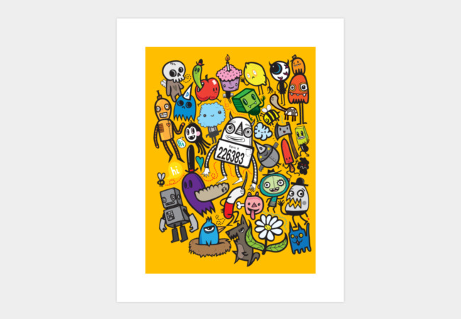 All My Friends Have Color Art Print - Design By Humans