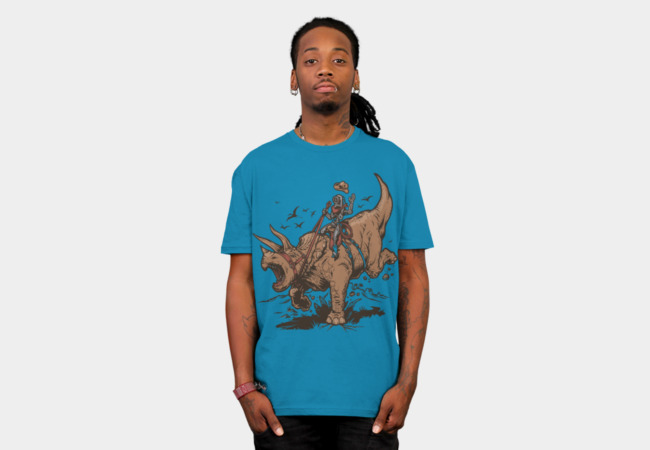 Triceratops CowBot T-Shirt - Design By Humans