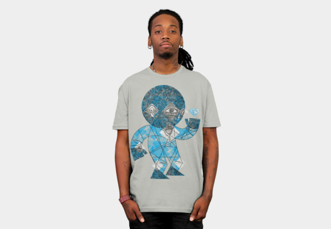 mesmerized by the light blue diamond T-Shirt - Design By Humans