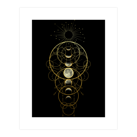 Moon Phases Abstract