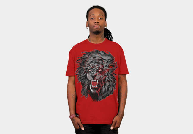 Zombie Lion II T-Shirt - Design By Humans