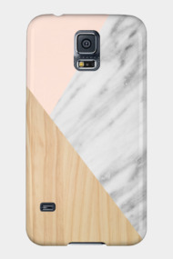 Light Wood, Pink and Real Italian Marble