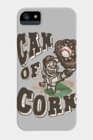 Can of Corn Retro Style Baseball Player