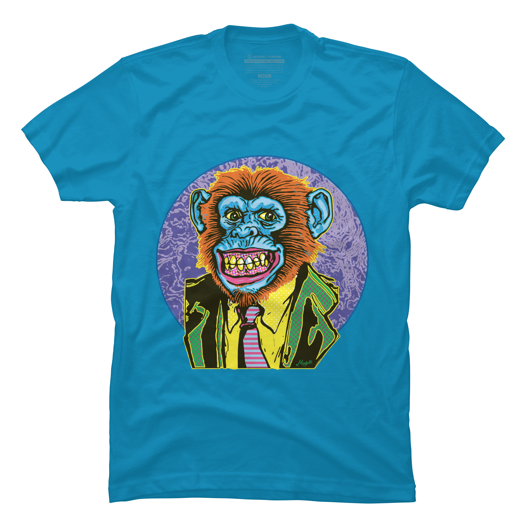 Psychedelic Chimp in Monkey Suit is All Business Men's T-Shirt