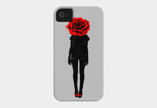 Red Rose Phone Case - Design By Humans