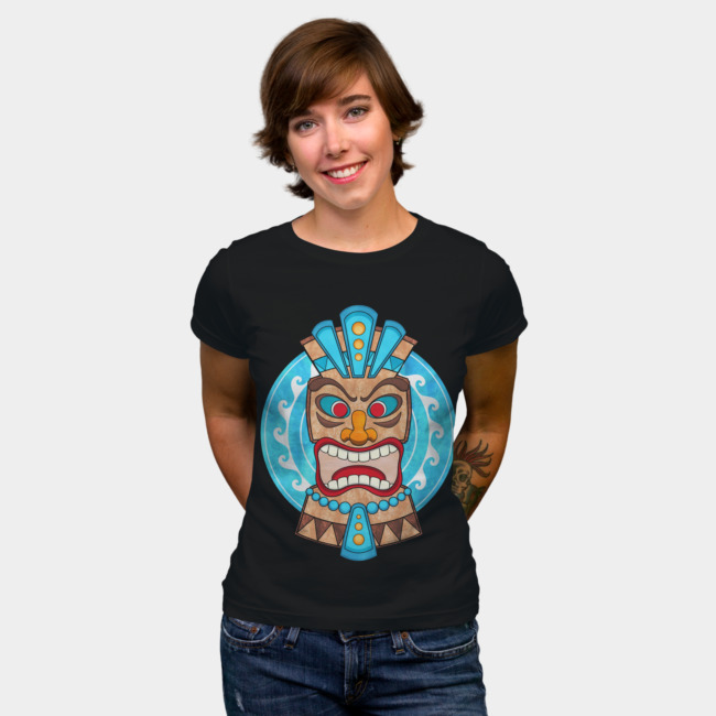 Studio Dalio - Screaming Wild Tiki Head T-Shirt