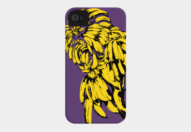 Gorilla Banana Phone Case - Design By Humans