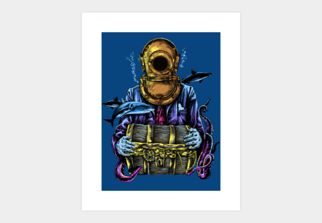 Deep blue sea keeper Art Print - Design By Humans