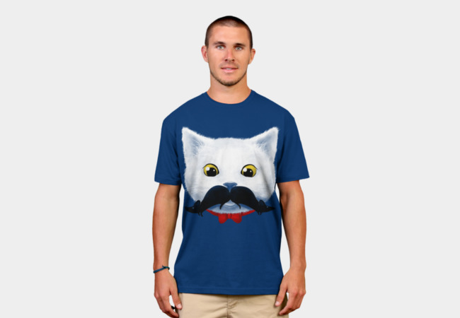 Kitty's Mouse-tache T-Shirt - Design By Humans