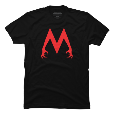 EnticeTheMalice M Logo - Red on Black T-Shirt