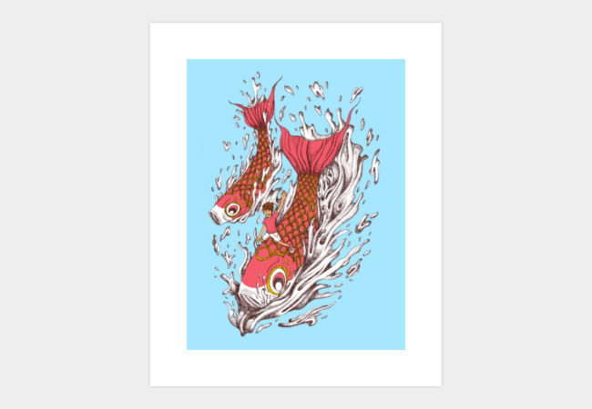 Ride With Koi Art Print - Design By Humans