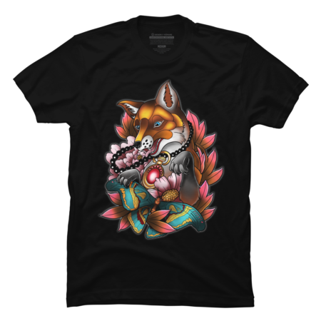 Spring Fox and Butterflies