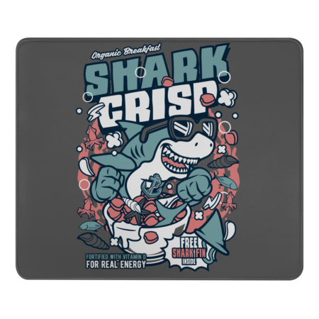Shark Crisp - Shark Cartoon in Cereal Box Crunch Collection
