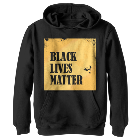 Black Lives Matter in yellow