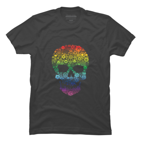 Skull flowers - Rainbow edition