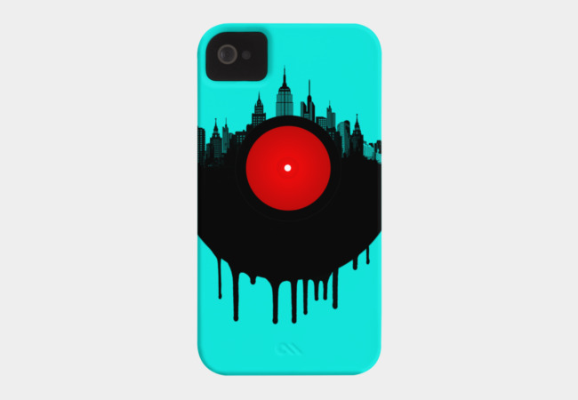 The Vinyl City Phone Case - Design By Humans