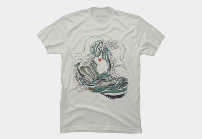 Kissing The Wave Men's T-Shirt