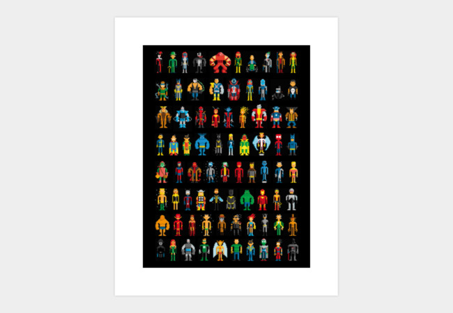 Limited Edition - Pixel Heroes Art Print - Design By Humans