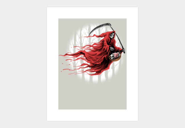 Red Reaper Art Print - Design By Humans