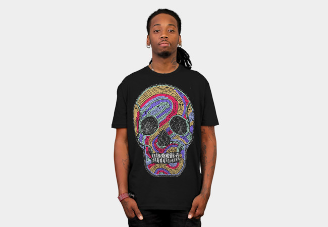 psychedelic skull T-Shirt - Design By Humans