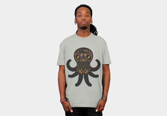 DJ Octopus T-Shirt - Design By Humans